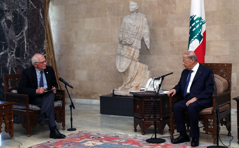 President Michel Aoun Meets High Representative of the European Union For Foreign Affairs and Security Policy Mr Joseph  Borell Fontelles