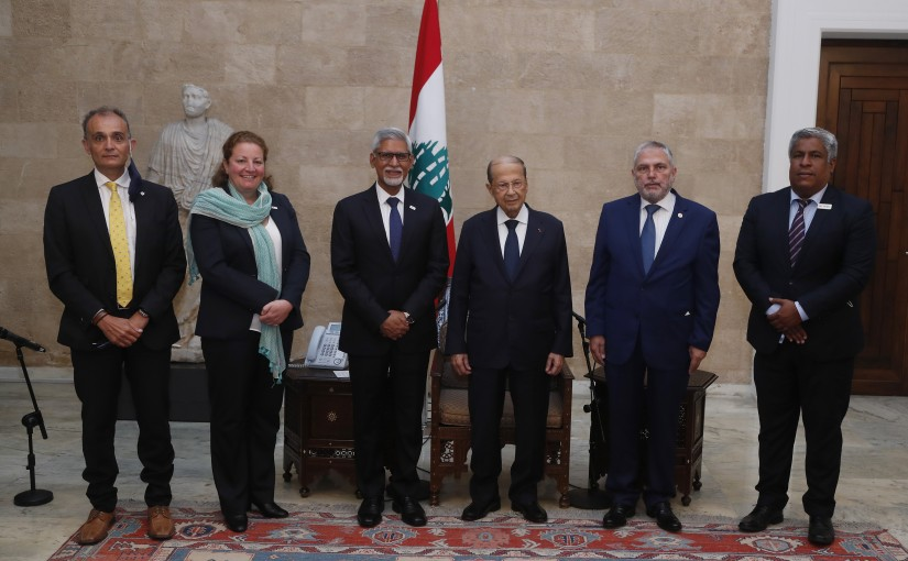 President Michel Aoun Meets a Delegation From The International Federation of Red Cross and Red Crescent Societies Headed by Mr Jagan Chapagain