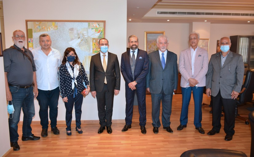 Minister Abass Mourtada meets a Delegation from Lebanese Artists