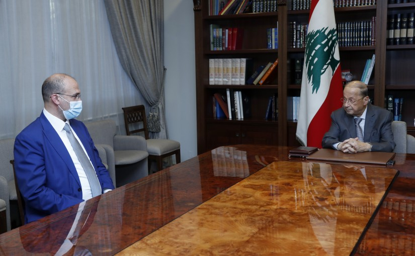 President Michel Aoun Meets Minister Mohamad Hassan