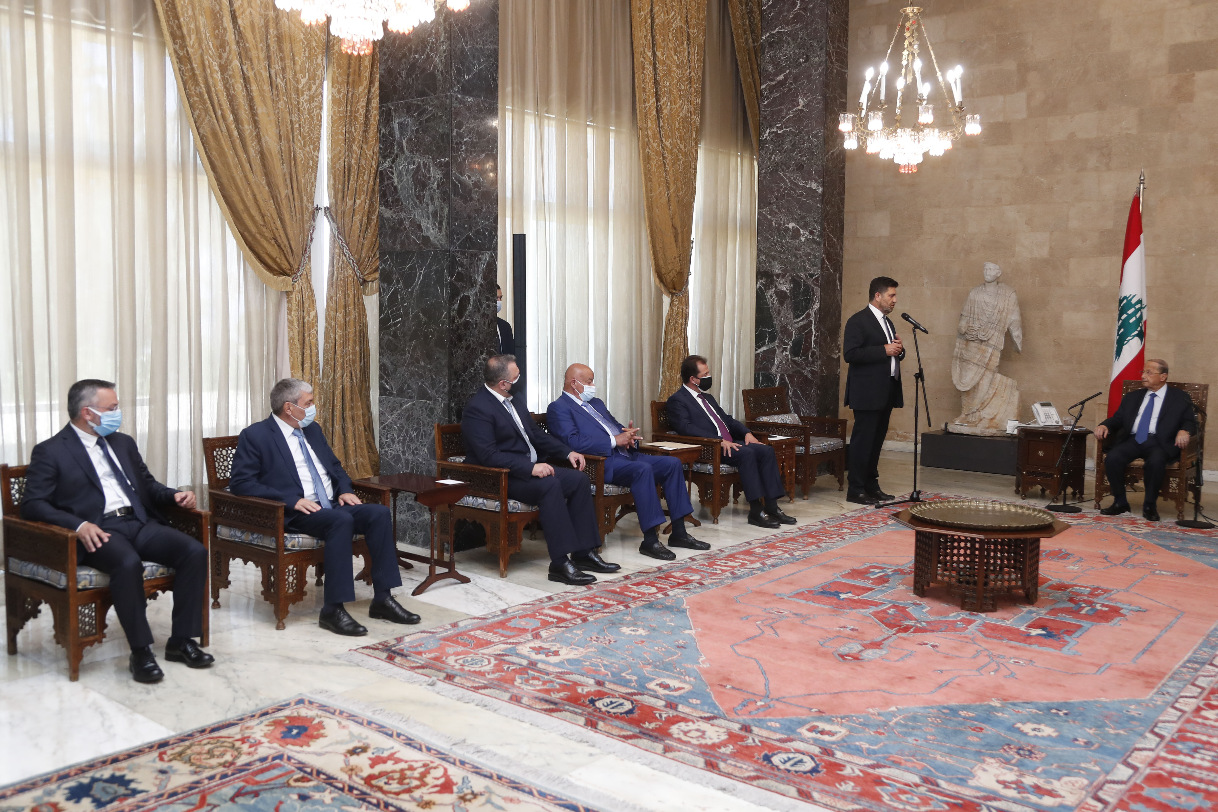 MINISTER RAYMOND GHAJAR WITH A DELEGATION 1