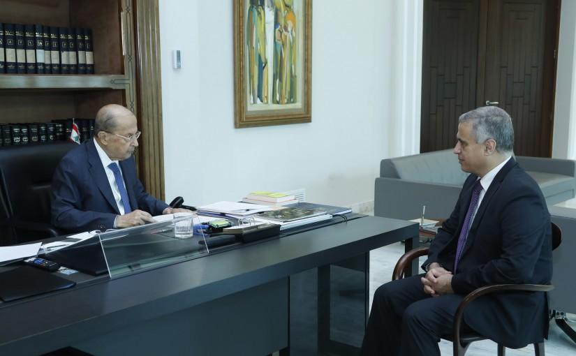 President Michel Aoun Meets MP Edgard Trabolsi