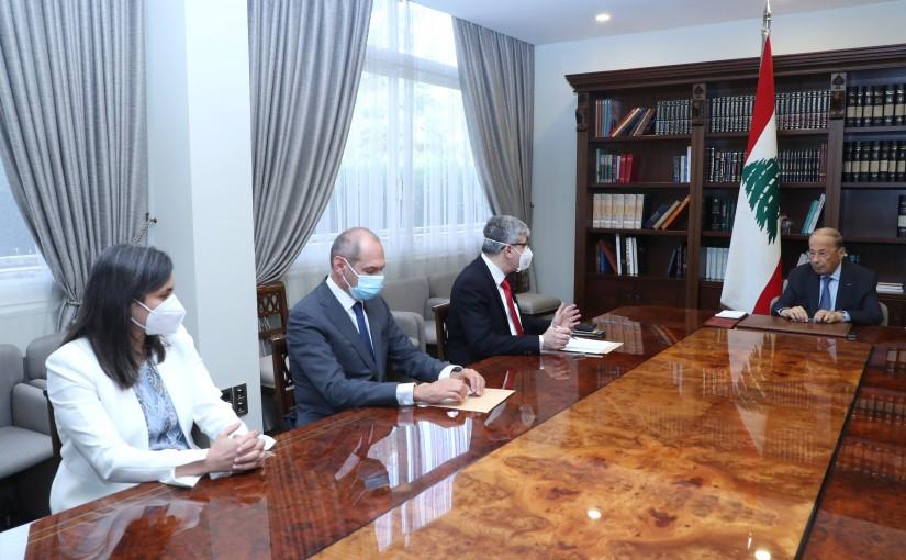 President Michel Aoun Meets Minister of Education Tarek Majzoub