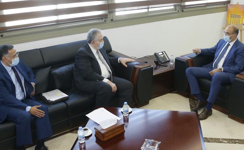 Minister Hassan Hamad meets MP Samir el Jessir