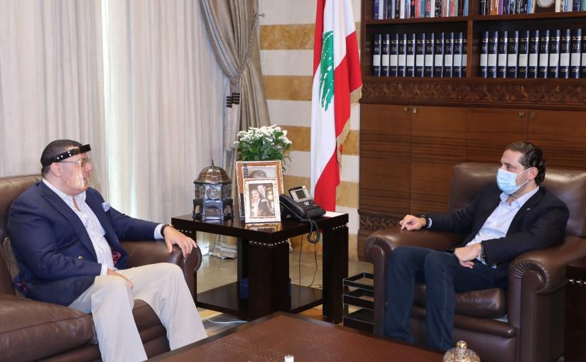 Pr Minister Saad Hariri meets Egyptian Ambassador