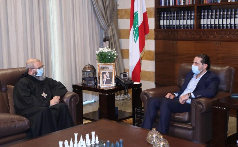 Pr Minister Saad Hariri meets Father Neamatallah El Hachem