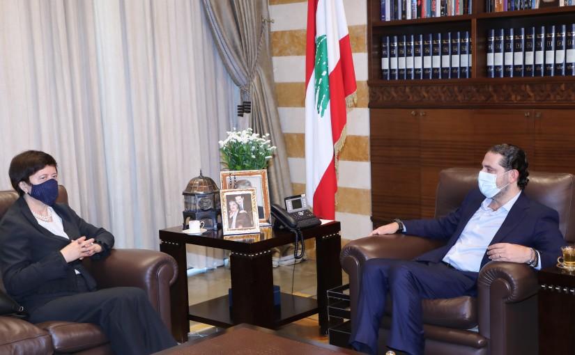 Pr Minister Saad Hariri meets United Nations Special Coordinator for Lebanon Joanna Wronecka