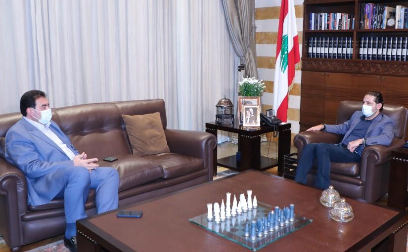 Pr Minister Saad Hariri meets MP Walid Baarini