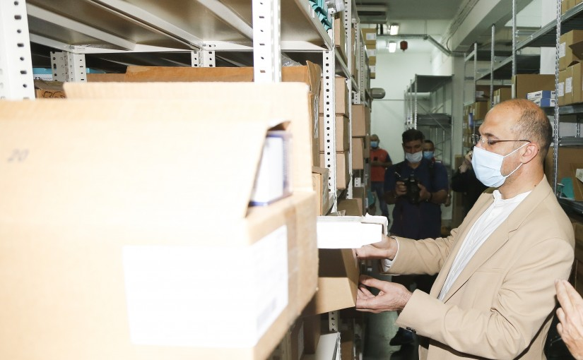 Minister Hassan Hamad Visits Drugs Stores in Hazmieh
