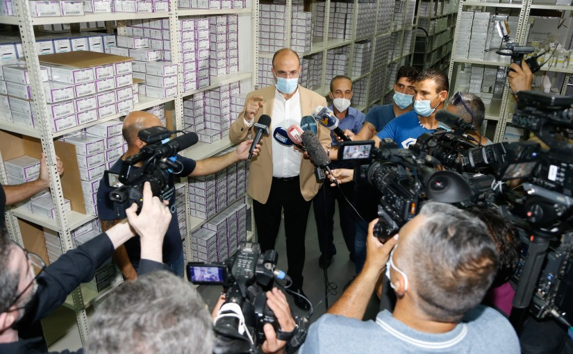 Minister Hassan Hamad Visits Drugs Store at Daoura