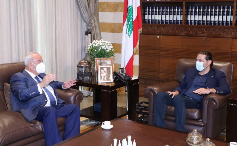 Pr Minister Saad Hariri meets Mr Bahaa Hareb with a Delegation