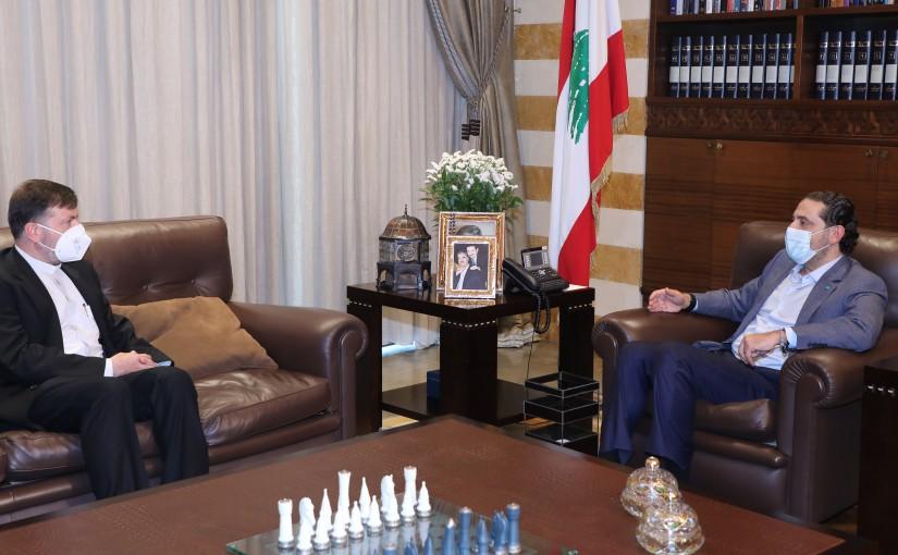 Pr Minister Saad Hariri meets Father Youssef Nasser