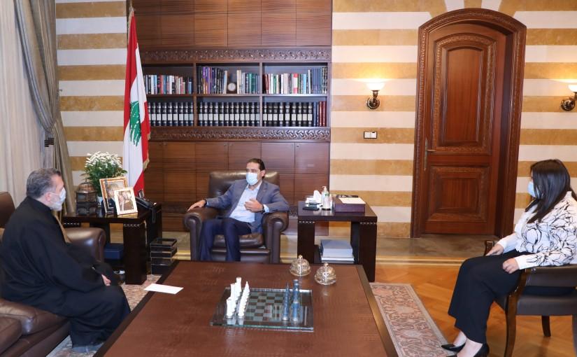 Pr Minister Saad Hariri meets Father Fadi Tabet