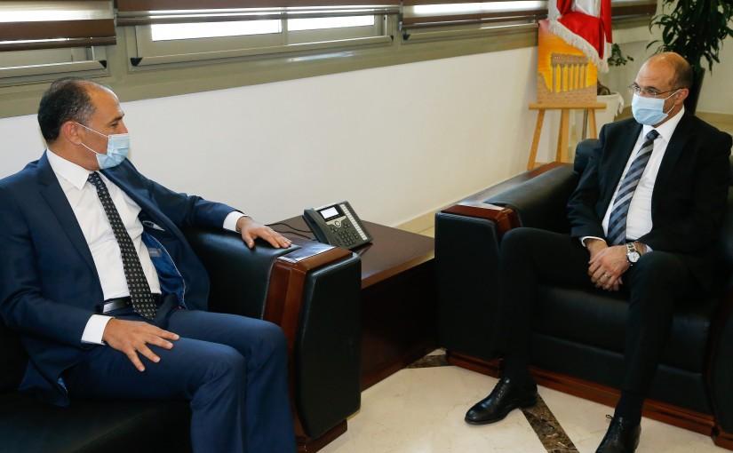 Minister Hassan Hamad meets Tunisian Ambassador