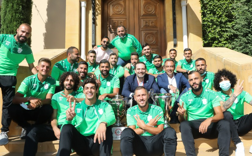 Pr Minister Saad Hariri meets a Delegation from Ansar Club