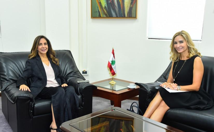 Minister Zeina Akkar meets Swiss Ambassador