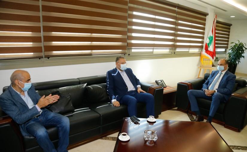 Minister Hassan Hamad meets MP Ali Fayad
