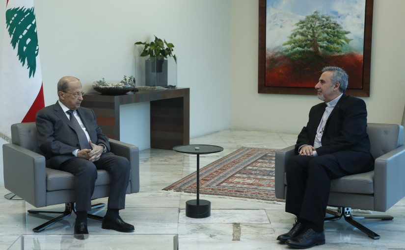 President Michel Aoun Meets President at Supreme Council of Evangelical Community in Syria and Lebanon Joeph Kassab