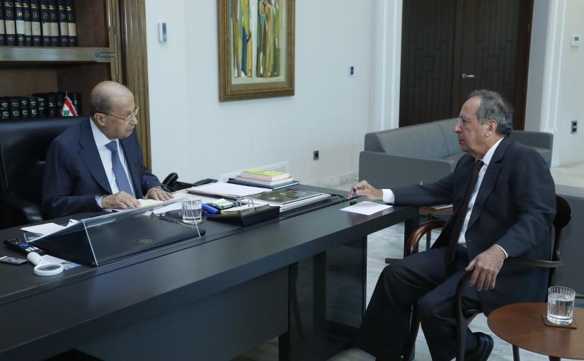 President Michel Aoun Meets MP Jamil El Sayed