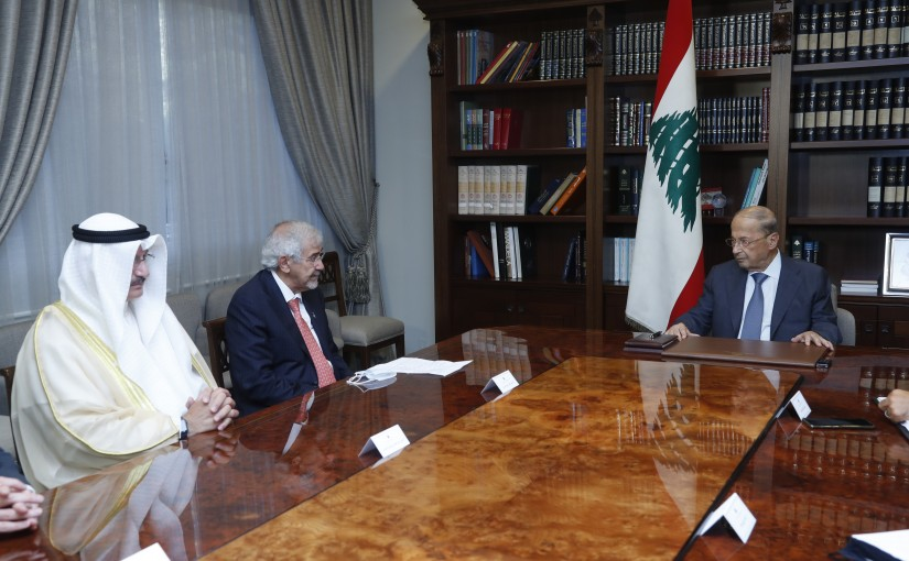 President Michel Aoun Meets a Delegation From The Kuwaiti Red Crescent Society