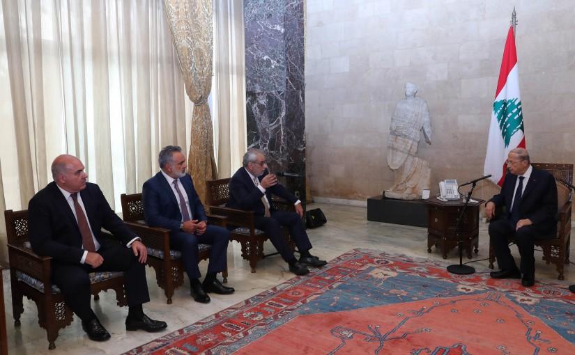 President Michel Aoun Meets a Delegation of The Armenian Parliamentary Bloc