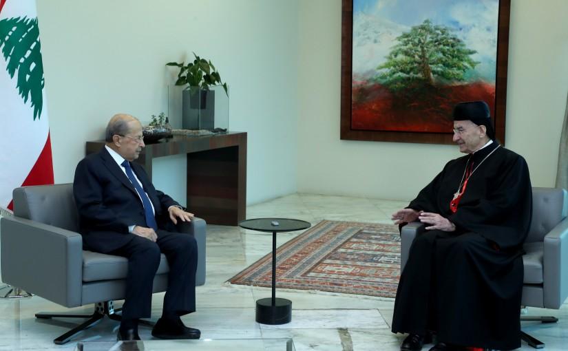 President Michel Aoun meets Patriarch Mar Bechara Boutros El Raai