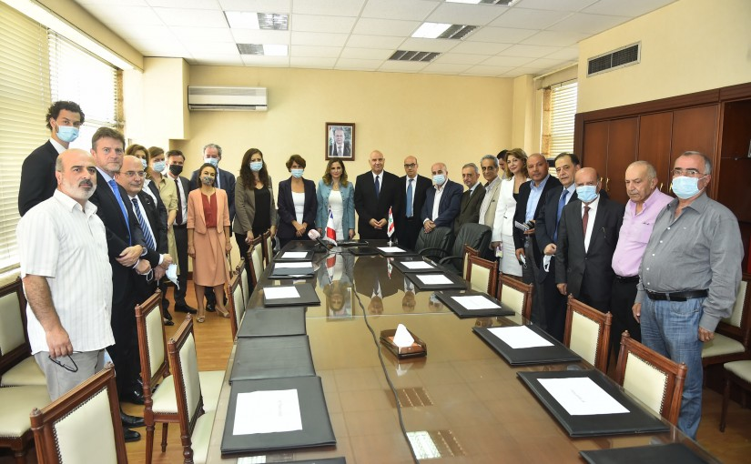 Minister Manal Abdel Samad Meets a French Delegation