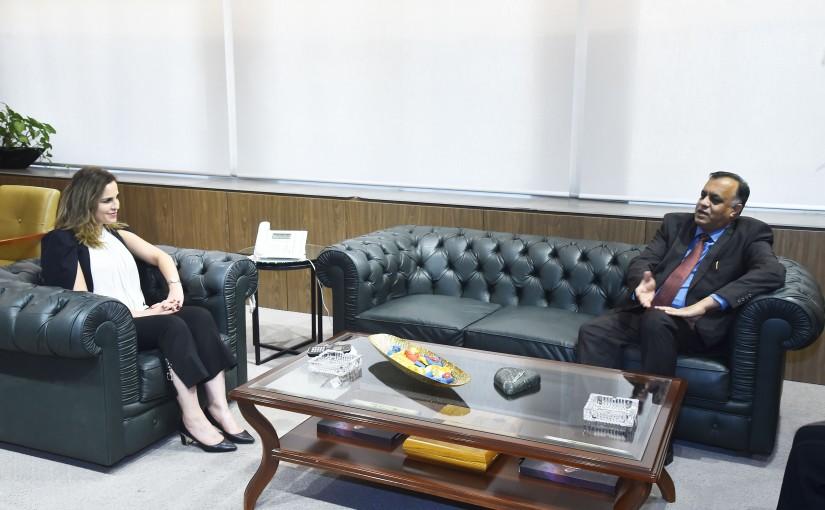Minister Manal Abdel Samad meets Indian Ambassador
