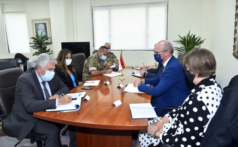 Minister Zeina Akkar meets Ireland Minister of Foreign Affairs
