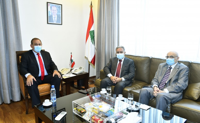 Minister Imad Heballah meets Minister Ramzi Moucharafieh
