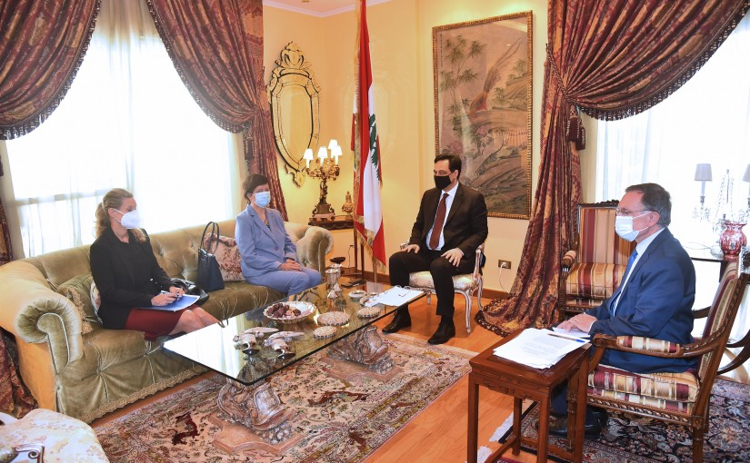 Pr Minister Hassan Diab meets a Delegation from United Nation