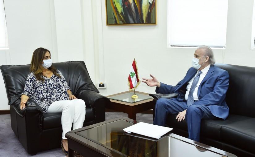 Minister Zeina Akkar meets Dean Joseph Habis