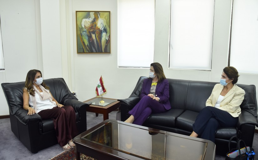 Minister Zeina Akkar meets French Ambassador & US Ambassador