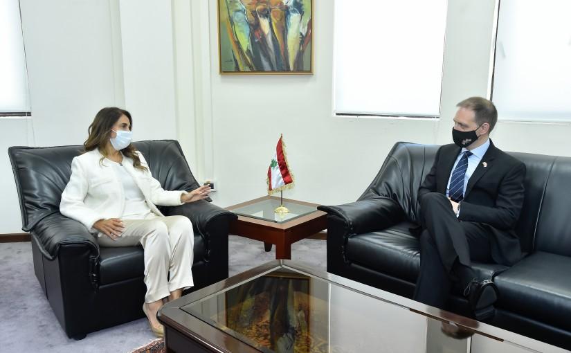 Minister Zeina Akkar meets British Ambassador