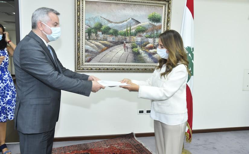 Minister Zeina Akkar meets Moldovan Ambassador