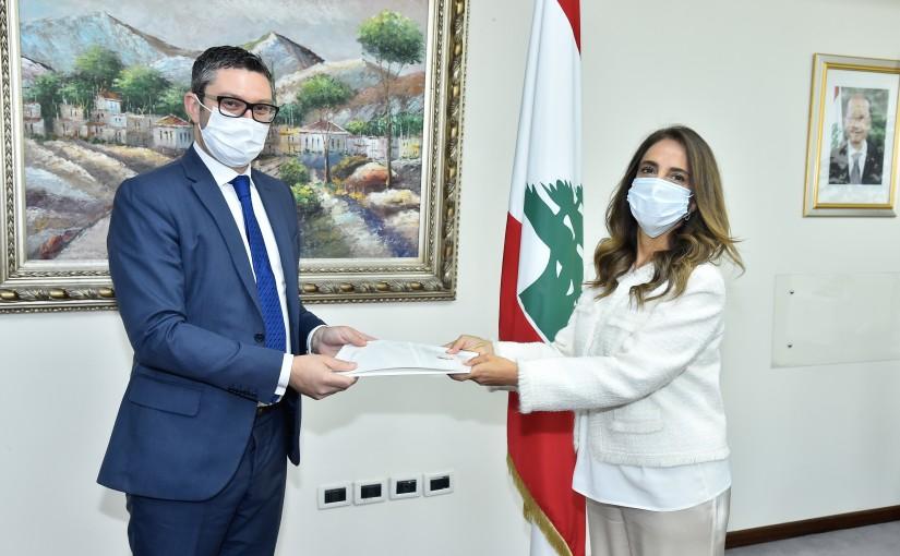 Minister Zeina Akkar meets Malta Ambassador