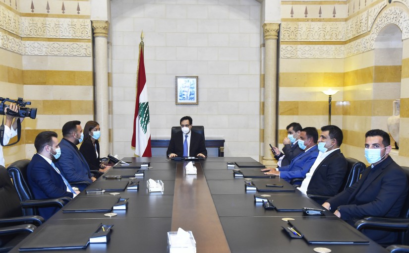 Pr Minister Hassan Diab meets a Delegation from Mozambique