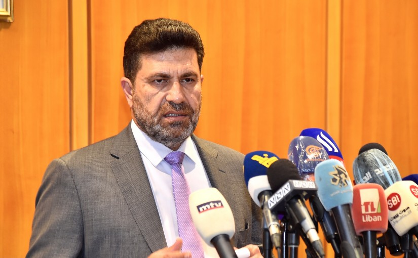 Press Conference for Minister Raymond Ghajar