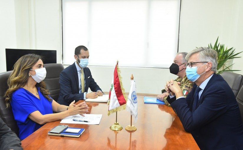 Minister Zeina Akkar meets a Delegation from United Nations