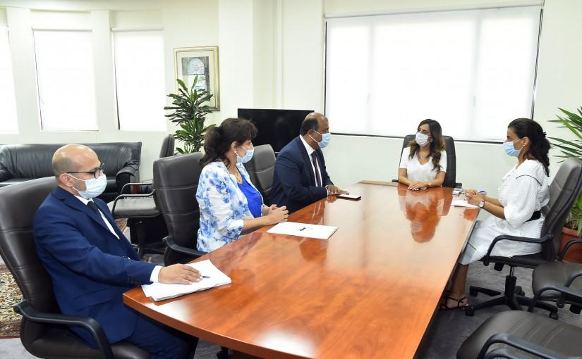 Minister Zeina Akkar meets Mr Khaled Hanafi