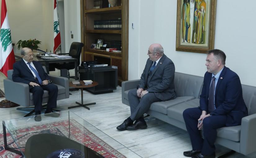President Michel Aoun Meets Chargé d'Affaires of the British Embassy Dr Martin Longden