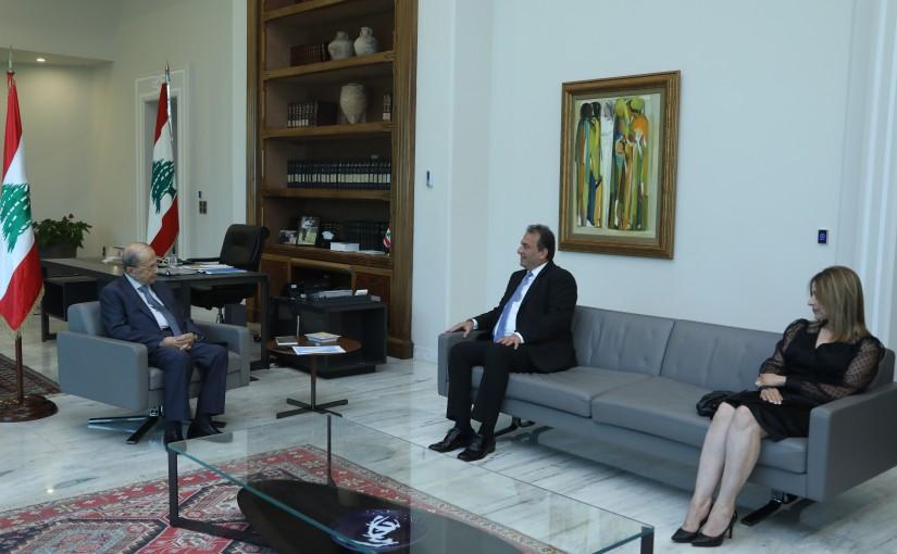 President Michel Aoun Meets Cypriot Member of Parliament John Moussas