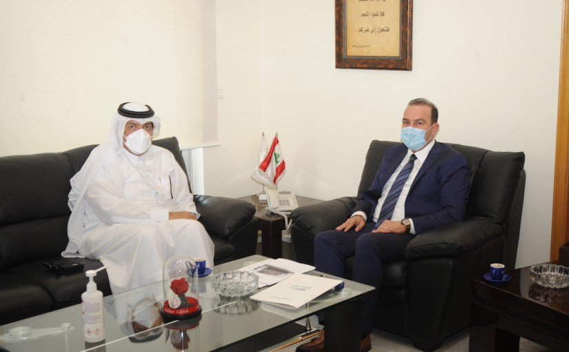 Minister Abass Mourtada meets Qatar Ambassador