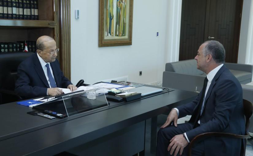 President Michel Aoun Meets Former Deputy Pr Minister Elias Saeb