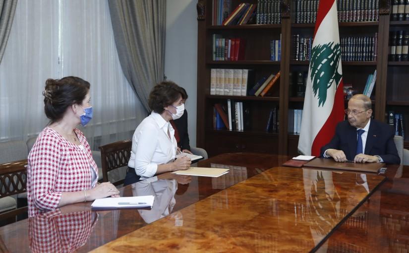 President Michel Aoun Meets French & US Ambassadors