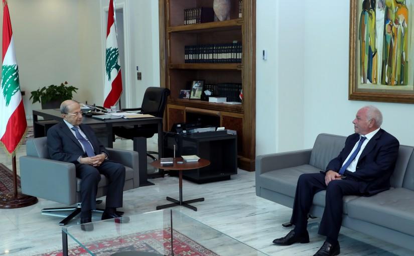 President Michel Aoun Meets Attorney General Ghassan Owaidat