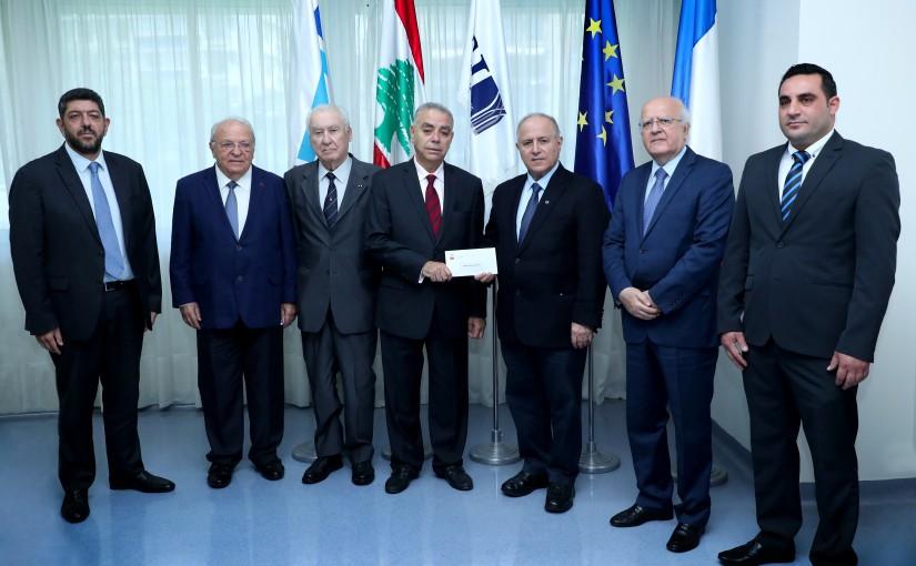 Donation From The Légion d'honneur Association in Lebanon to The Hôtel-Dieu de France Hospital