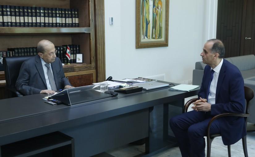 President Michel Aoun Meets Lebanese Ambassador in Senegal Sami Haddad