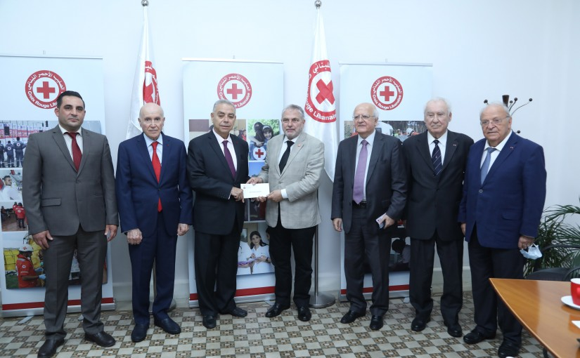 Donation From The Légion d'honneur  Association in Lebanon to The Lebanese Red Cross