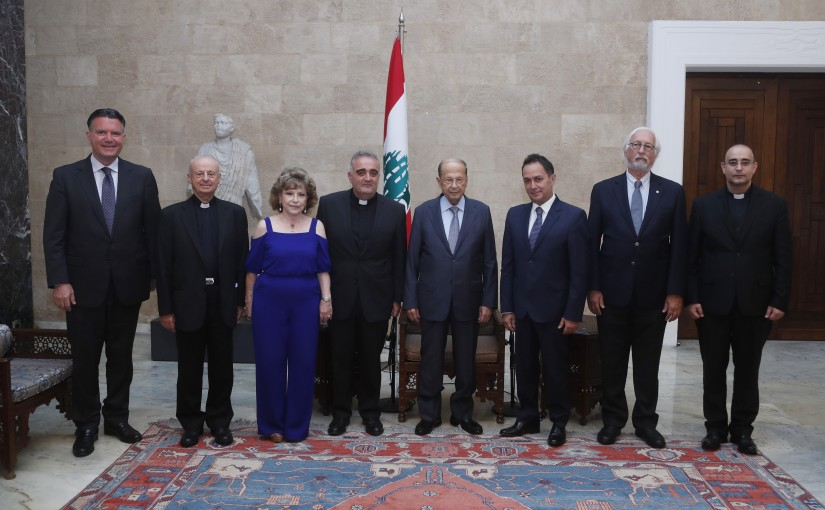 President Michel Aoun Meets a Delegation From Notre Dame University – Louaize